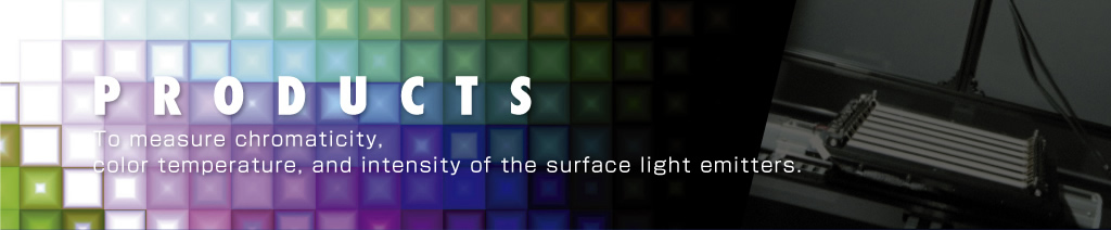 To measure chromaticity, color temperature, and intensity of the surface light emitters.