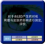 对于由LED产生的对视网膜与 皮肤的影响进行测定,评价.